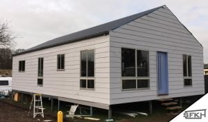 weathertex cladding on a steel frame kit home