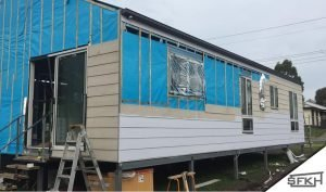 cladding a steel frame kit home